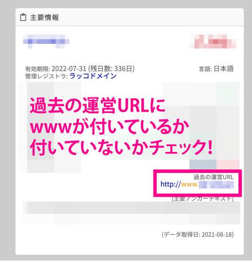 過去の運営URL